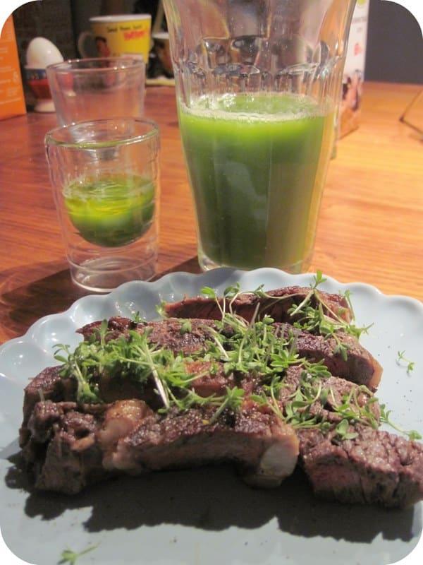 Bøf med grønt – til morgenmad