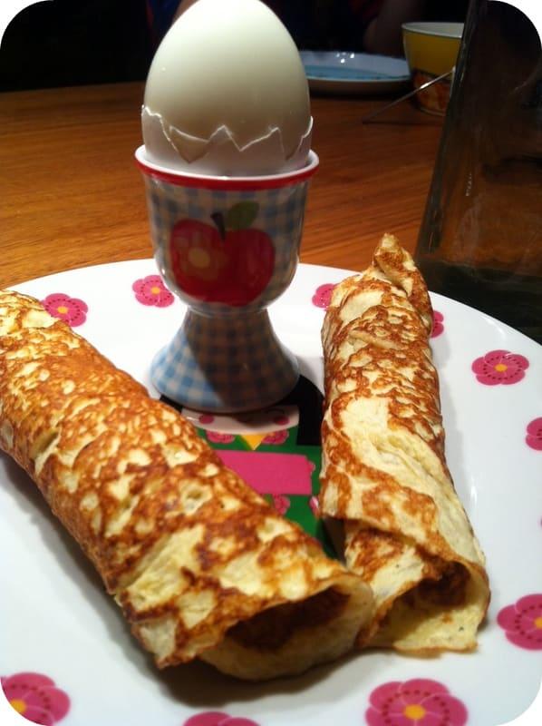 pandekager med æggehvider