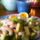 Morgenmad, der mætter: Rejer med avokado og