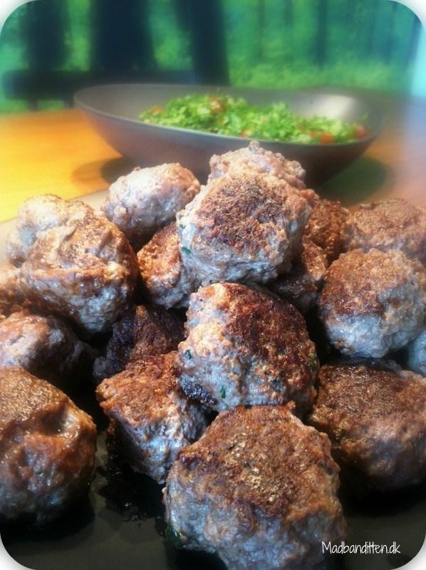 Orientalske kødboller med taboulé