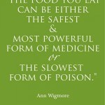 Food as poison quote