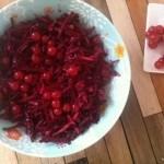 rødkålsalat med ingefær og ribs