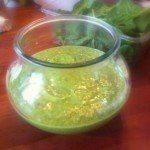 avokadodressing med agurk og mynte