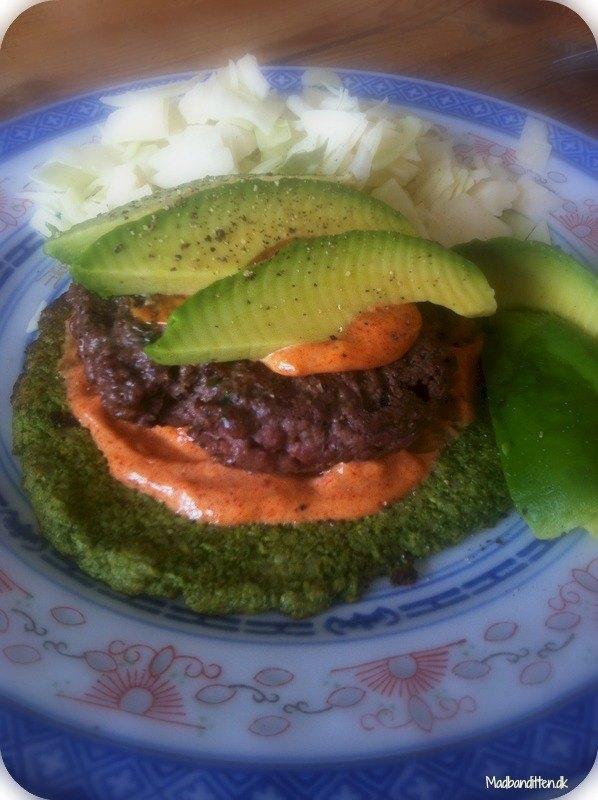 Grønne pandekager og en snasket burger LCHF low carb high fat