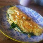 Omelet med sprød ost LCHF