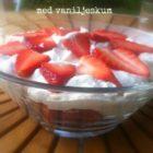 Jordbær med vaniljeskum LCHF