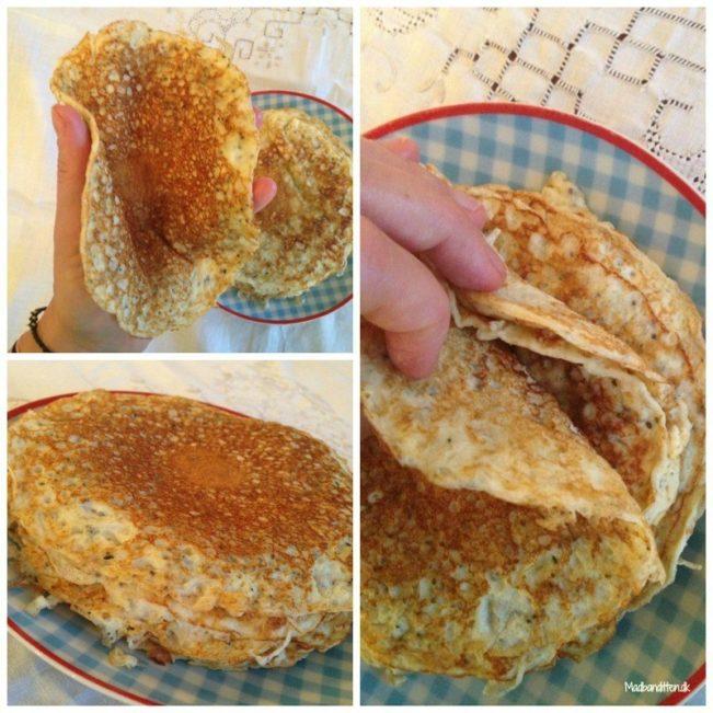 stor pandekage med fyld