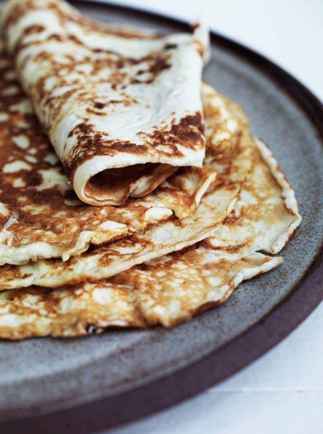 Tynde pandekager uden mel - glutenfri og LCHF