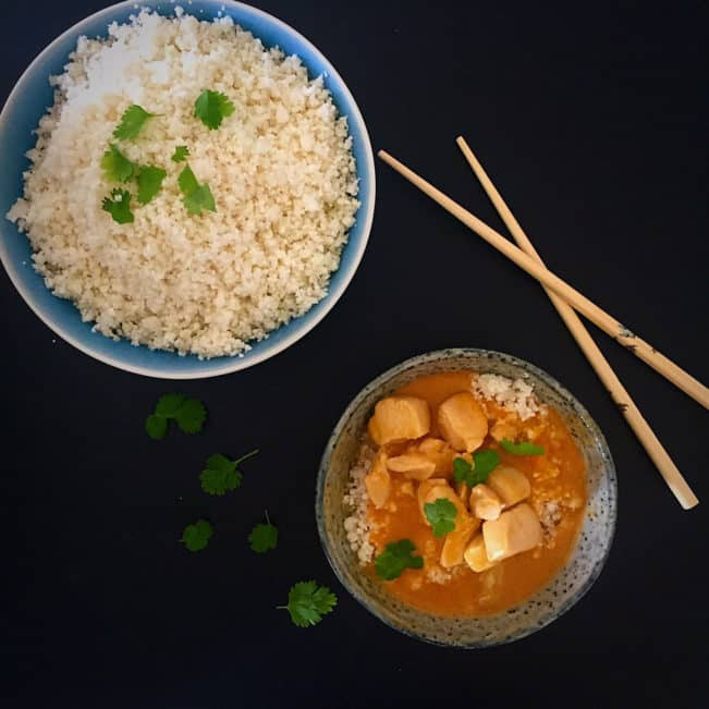 Chicken curry thai style without sugar - dairy free, grain free and sugar free --> MyCopenhagenKitchen.com