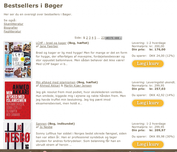 Bestsellerliste saxo