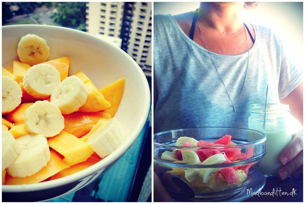 Mango, banan og yoghurt