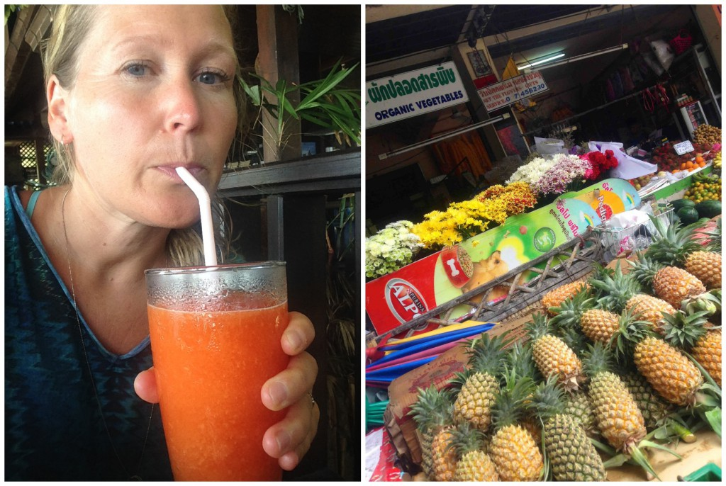 Ananas og papayashake