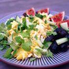 feta-røræg med persille og oliven
