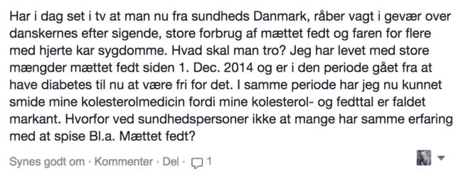 Danskerne spiser for meget mættet fedt
