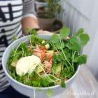 Salat med varmrøget laks og kold blomkålsbearnaise --> madbanditten.dk