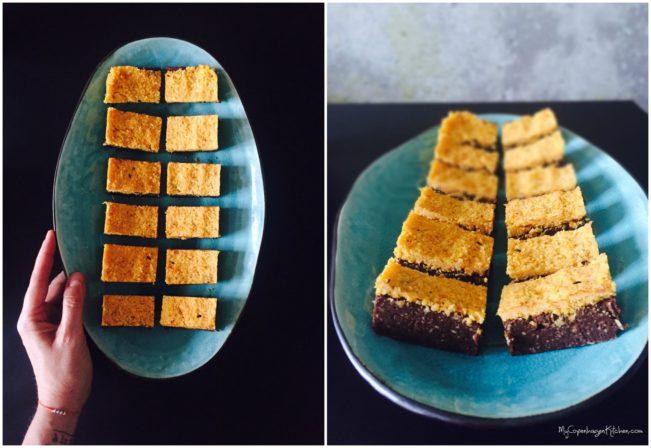 Raw brownie with orange and sea buckthorn --> MyCopenhagenKitchen.com