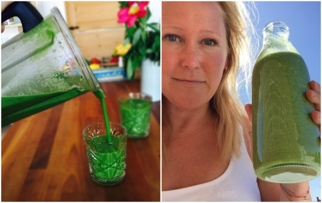 A large green juice and me! --> MyCopenhagenKitchen.com