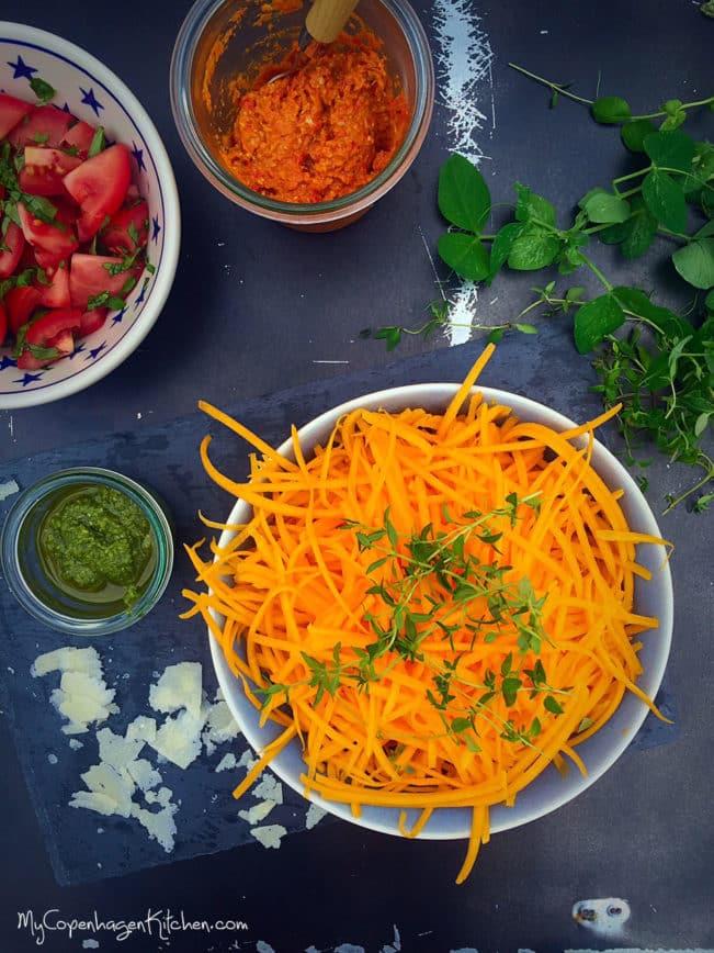 Butternut squashghetti - perfect pasta replacement on LCHF, low carb and paleo --> MyCopenhagenKitchen.com