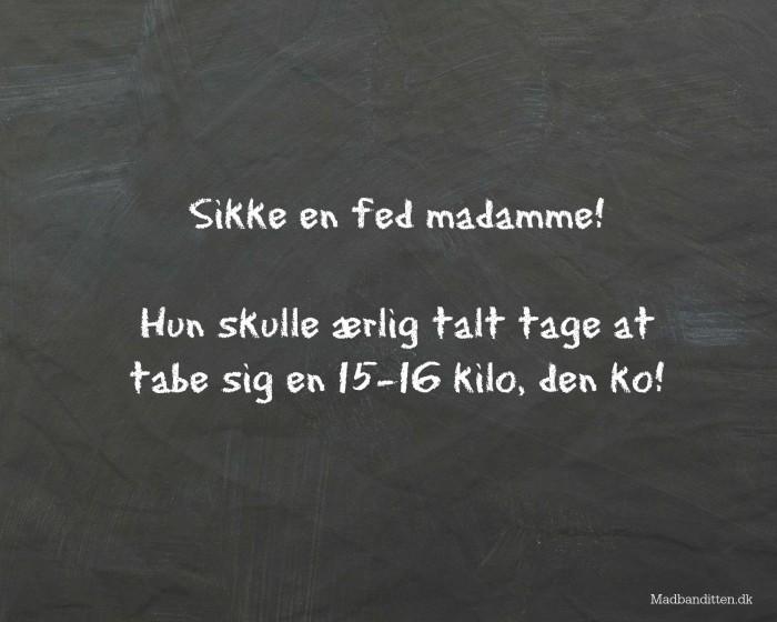 Fatshaming i 3. klasse. Er det i orden? --> Madbanditten.dk