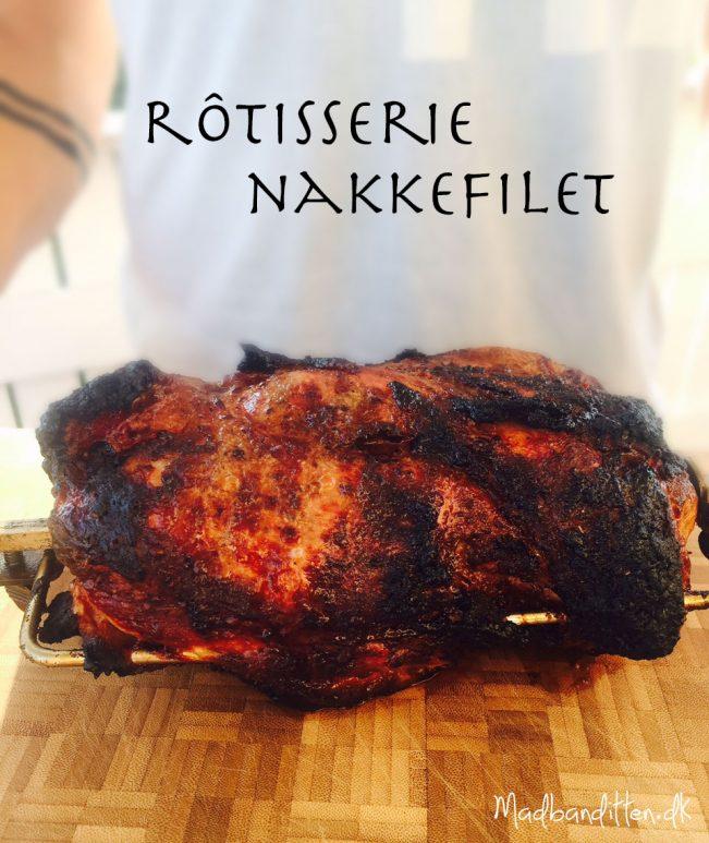Rôtisserie nakkefilet til grillen til lune sommeraftener. Nemt, velsmagende og passer sig selv! --> Madbanditten.dk
