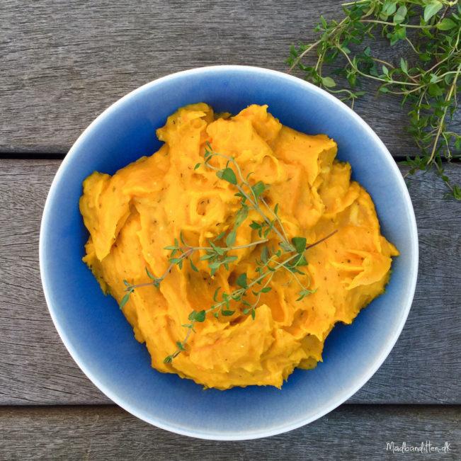 Lækreste opskrift på græskarmos med parmesan og timian -- LCHF & paleo --> Madbanditten.dk
