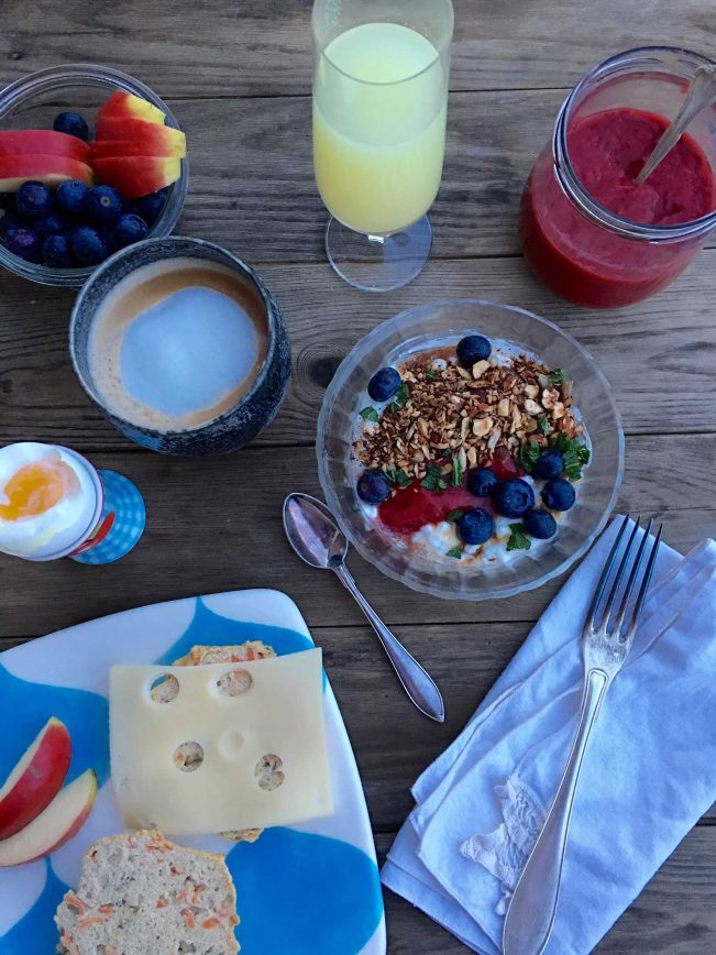 Birthday breakfast - and a few words on age and ageing.