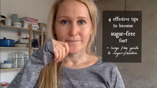 4 easy steps to become sugar-free fast + a large free guide to sugar-freedom --> MyCopenhagenKitchen.com