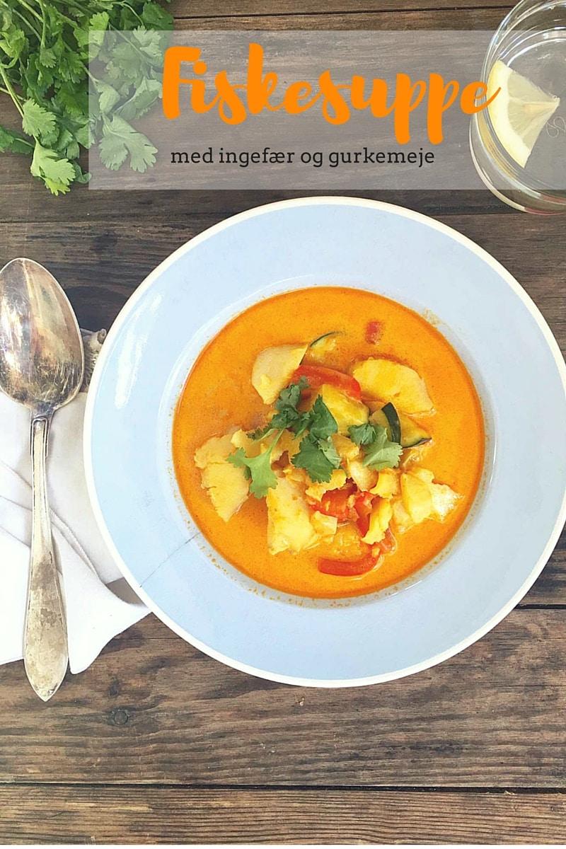 Fiskesuppe med ingefær og gurkemeje - bedste opskrift til skeptikere