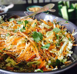 Indisk salat med appelsin, koriander og birkes