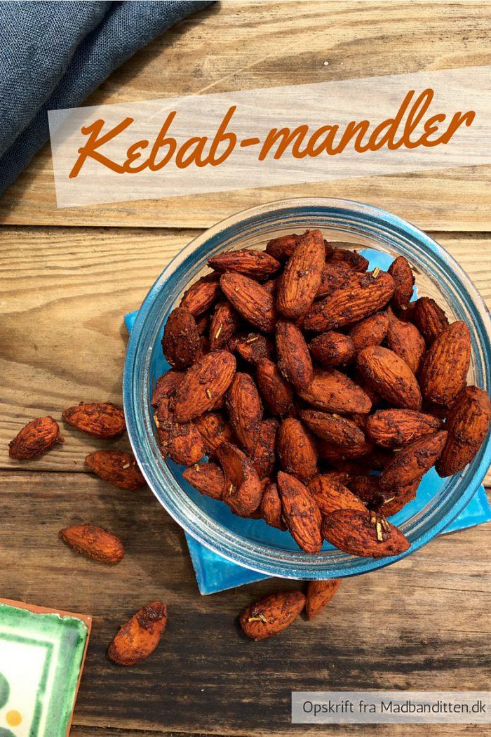 Kebab-mandler - opskrift på en lækker krydret og sund snack - opskrift her: Madbanditten.dk