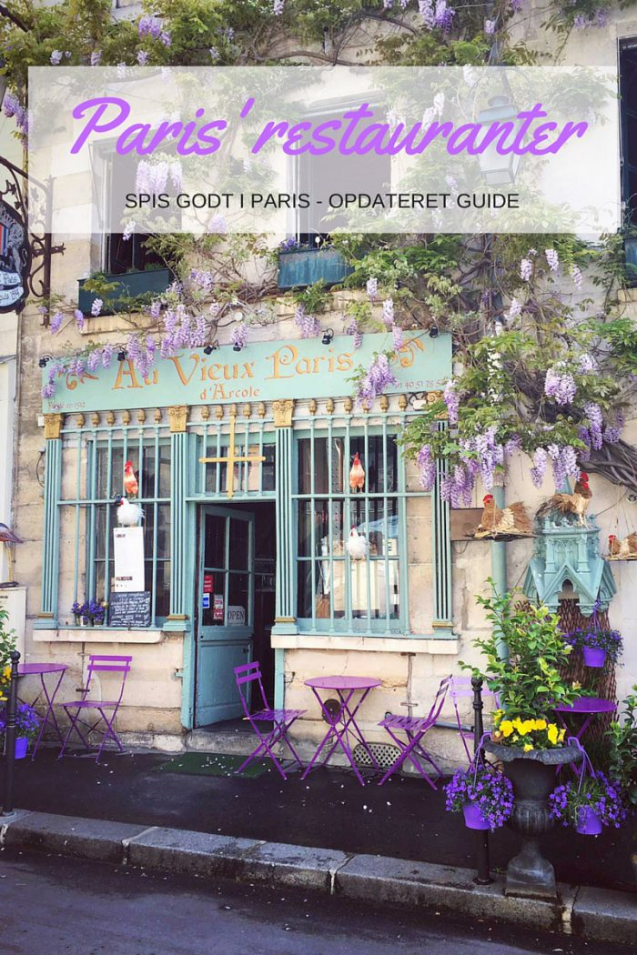 Guide til gode restauranter, caféer, vinbarer og hyggelige bistroer i Paris. Opdateret guide --> Madbanditten.dk