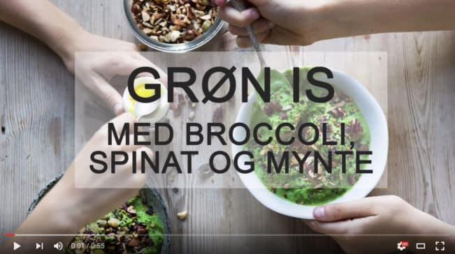 Grøn is med broccoli, spinat og mynte. Eller: Sådan får du ungerne til at spise broccoli frivilligt!