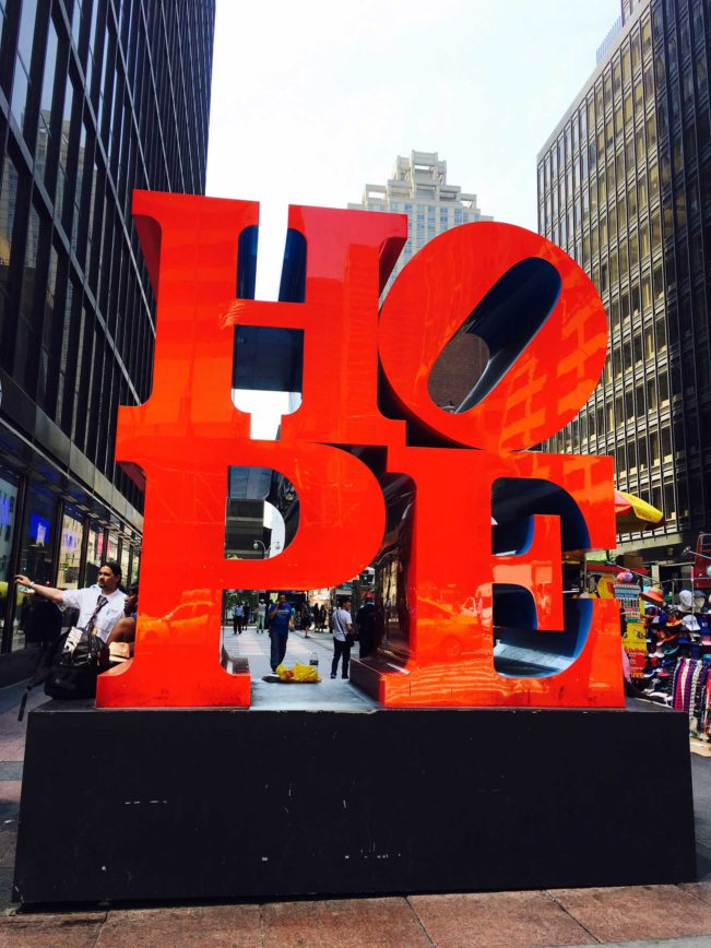 HOPE skulptur - New York
