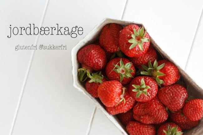 Lav din egen jordbærkage - denne er glutenfri og sukkerfri og smager helt fantastisk! Nem opskrift her: Madbanditten.dk