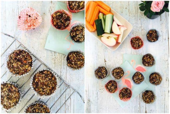 Sunde madpakke muffins med peanutbutter og chokolade. Glutenfrie og fyldt med sundt fedt. Nem opskrift her: Madbanditten.dk