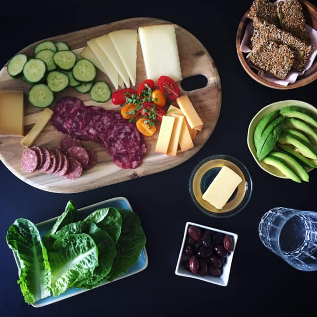 Cheese board - perfect low carb lunch or appetizer