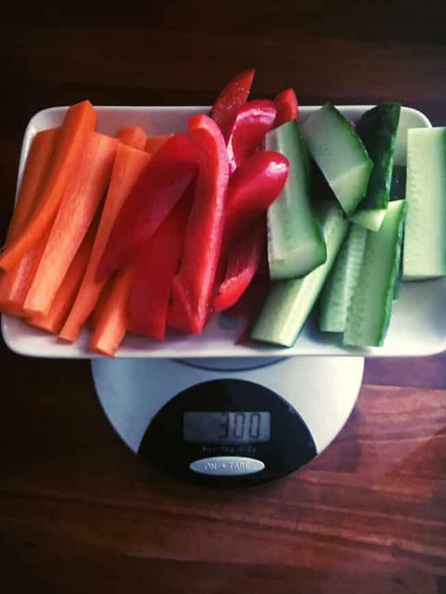 300 g grøntsager - sådan ser det ud