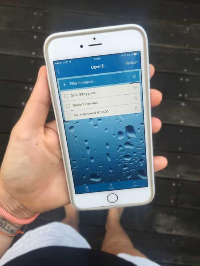 Brug din iPhone til at hjælpe dig med at nå dine mål - her med appen Wunderlist