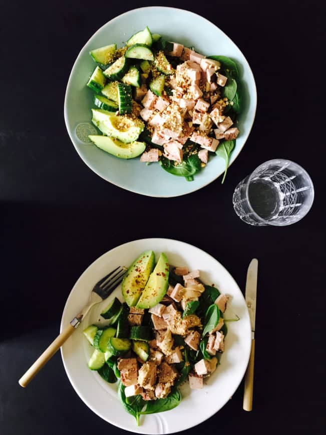 Frokostsalat med rester - den nemmeste LCHF frokost