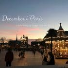 Paris i december. Skal du på weekend i Paris i december, så se med her: