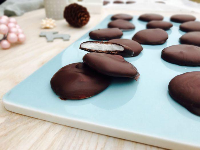 Pebermyntepastiller med chokoladeovertræk