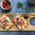 Low carb pizza på brødbund - en hurtig pizza med få kulhydrater
