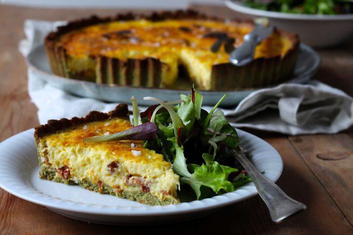 Quiche Lorraine –  fransk tærte med bacon og ost