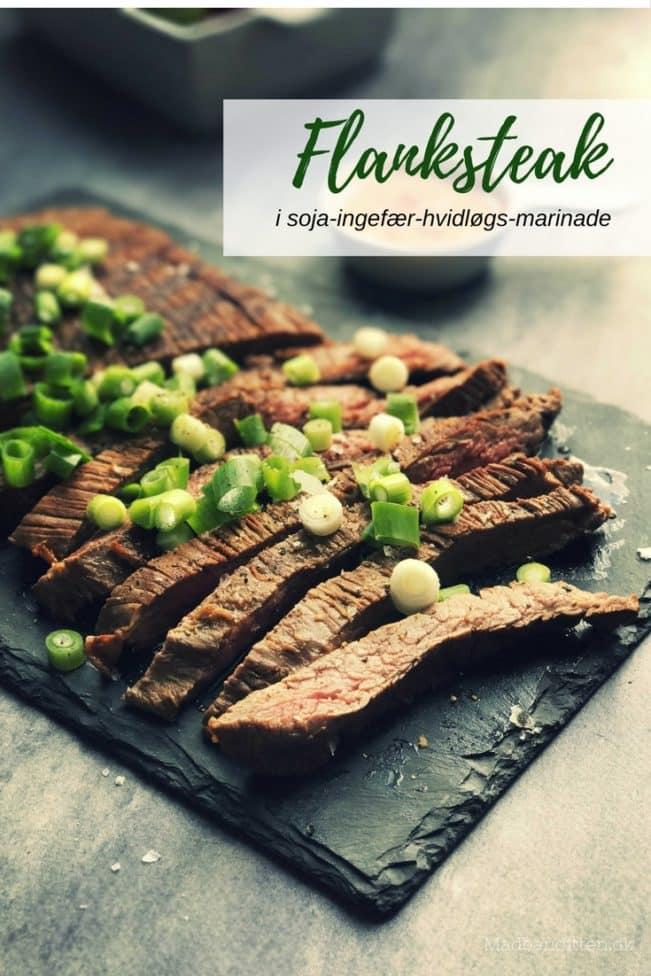 Flanksteak i lækker soja-ingefær-hvidløgsmarinade - god smag og helt mørt kød. Opskrift her: