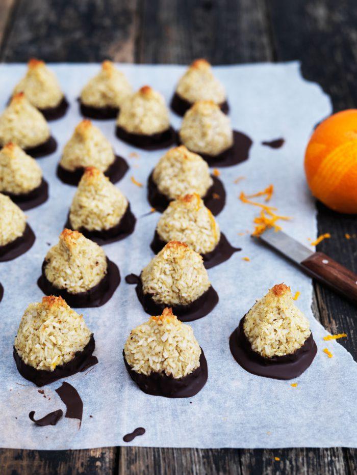 Kokostoppe med appelsin og chokolade