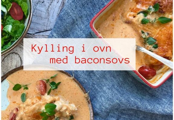 Kylling i ovn med baconsovs