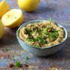 Grillet blomkålsdip med hvidløg - opskrift på lækker og sund sommerdip til grillmaden
