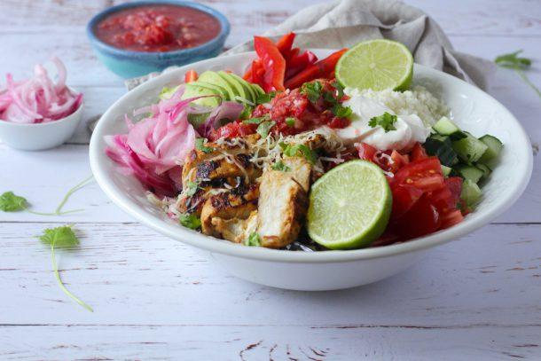 Burrito Bowl med kylling