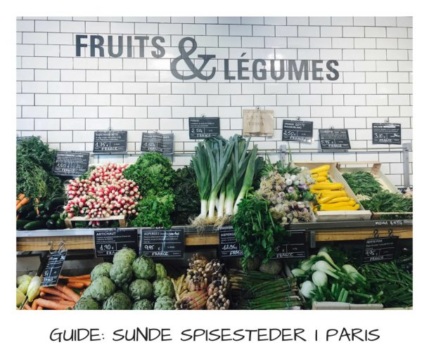Sunde og grønne spisesteder i Paris