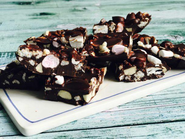 Rocky road chokolader